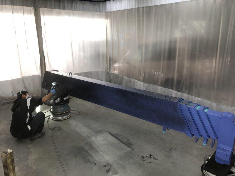 漁船用クレーン塗装!